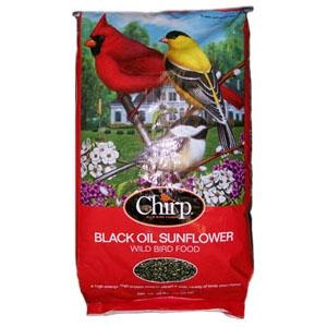 Chirp Black Oil Sunflower Bird Seed 50lb $19.99