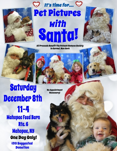 Pet Pictures With Santa: Mahopac