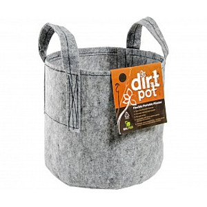 Grey Dirt Pot Portable Planter