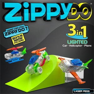 ZippyDo® 3 in 1 Lighted Construction Set Educational Toy from Laser Pegs®