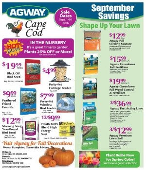 Agway of Cape Cod September Hot Buys