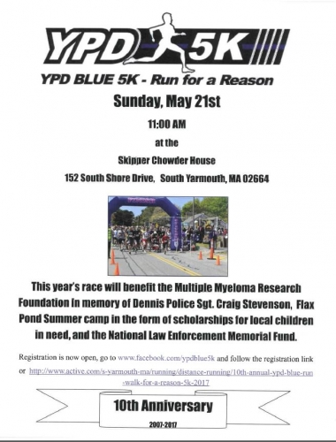 YPD Blue 5K - Run for a Reason