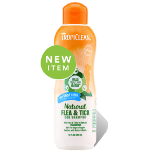 TropiClean Natural Flea & Tick Dog Shampoo