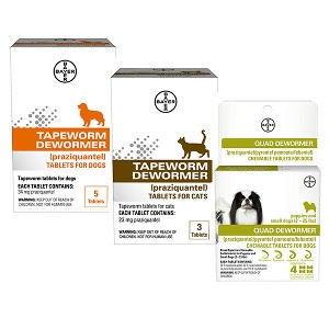 25% Off Bayer Quad Dewormer & Tapeworm Dewormer
