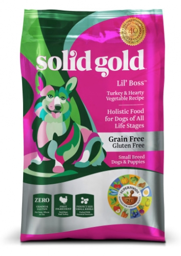 $5 Off Solid Gold Lil' Boss™ with Turkey Dog Food