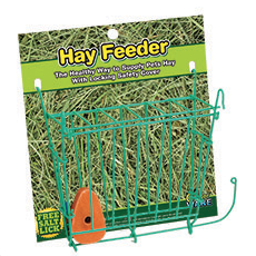 Hay Feeder - Wire Rack With Free Salt Lick
