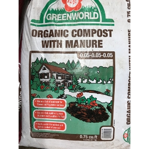 ASB Greenworld Compost with Manure .75cf- 10/$15