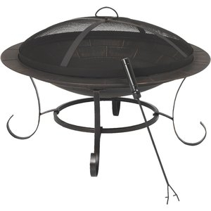 Outdoor Expressions 30 In. Steel Fire Pit