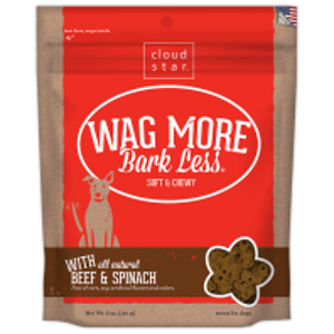 Wag More Bark Less Soft & Chewy Dog Treats: Beef & Spinach