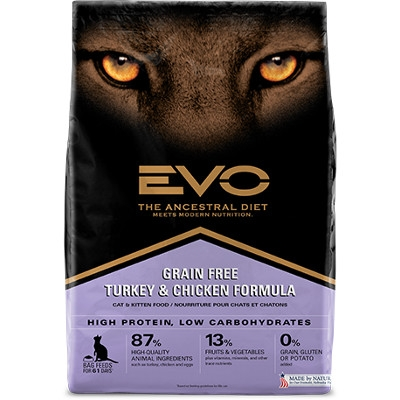 15.4 lb Evo Cat Turkey and Chicken for $29.99
