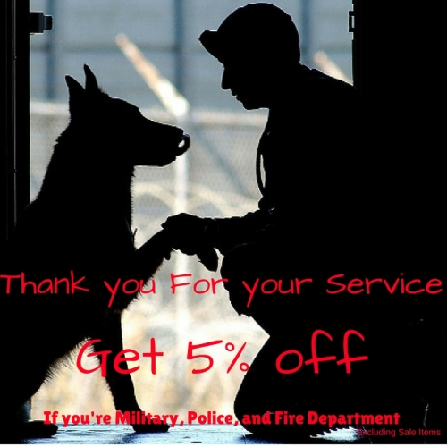 Military, Police, & Fire Department Discount