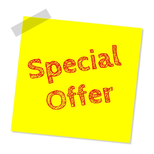 Special Offers Exclusively On Our Facebook Page!