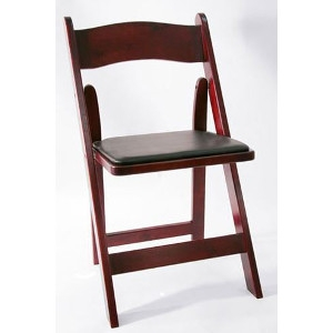 Red Mahogany Folding Padded Chairs