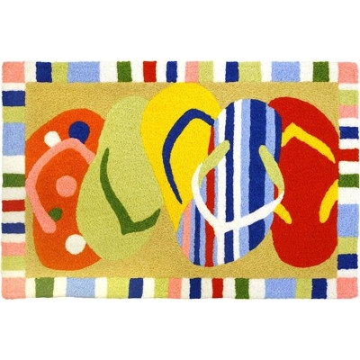 Multi-Colored Sandals Jelleybean Rugs