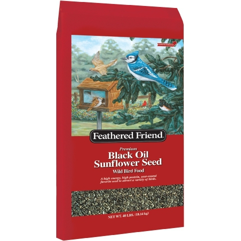 Feathered Friend Black Oil Sunflower 40lb $14.99