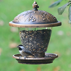 Holly Berry Gilded Chalet Bird Feeder Only $5.99