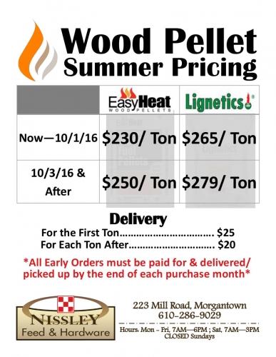 Wood Pellet Summer Pricing