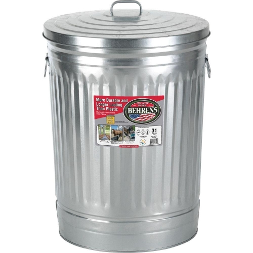Behrens Trash Can 31 Gal. with Lid: $20.00