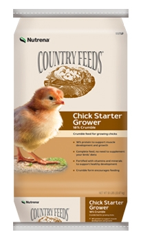 $1.00 off Country Feeds Chick Starter Grower Feed