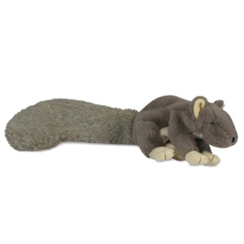 Durable Plush Squeaky Big Feller Squirrel Dog Toy
