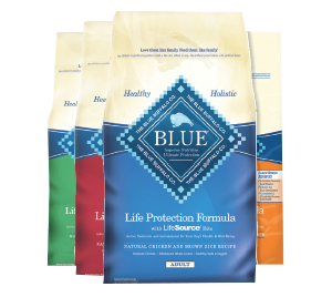 Blue Buffalo dog food bags