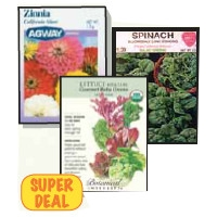 Flower and Vegetable Seeds 25% Off