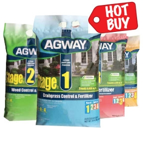 Agway 4 Stage Lawn Care 5,000 sq. ft. now $49.99