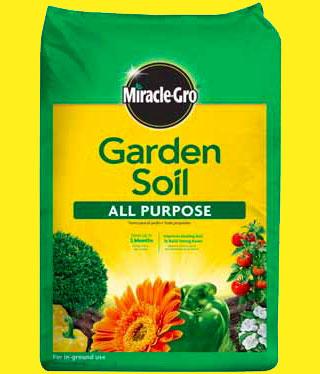 bag of Miracle Gro Garden Soil All Purpose