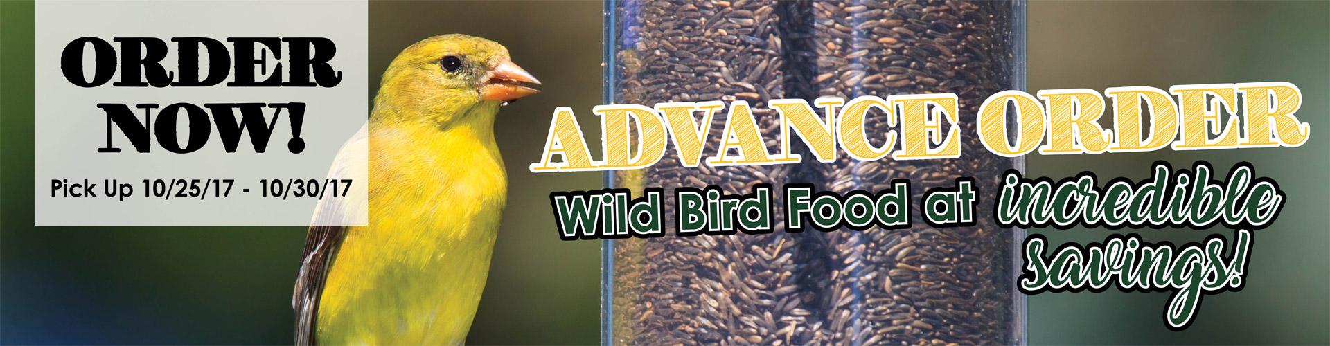 Wild Bird Food Order Form