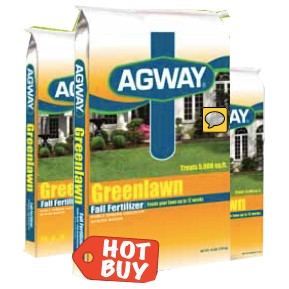 Agway Greenlawn Fall Fertilizer 5M now $14.99