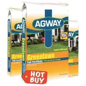 Agway Greenlawn Fall Fertilizer 5M now $14.99