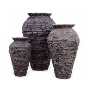 Aquascape Fountain Medium Stacked Slate Urn