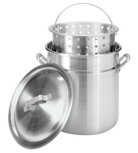 Steamer Pot with Basket, 40 Quarts