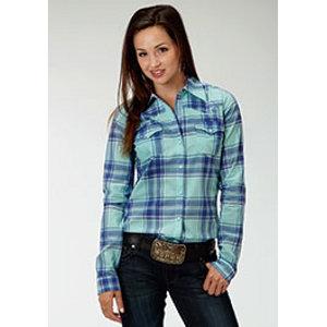 Womens Long-Sleeve Snap Shirt - 2 Pocket