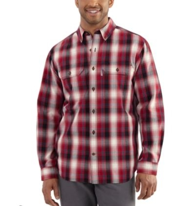 Carhartt Big and Tall Fort Plaid Long-Sleeve