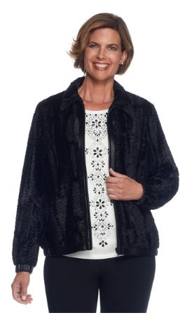 Plus Faux Fur Jacket by Alfred Dunner