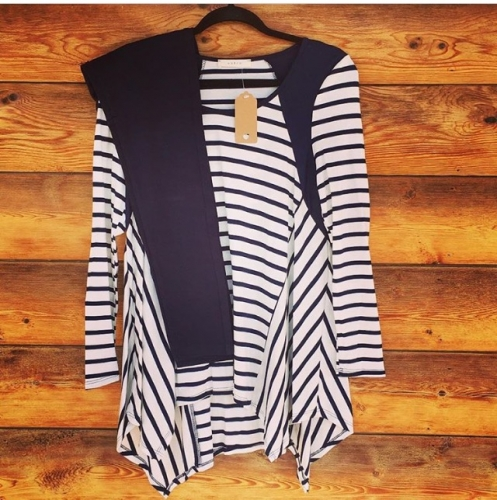 Leggings With Striped Tunic