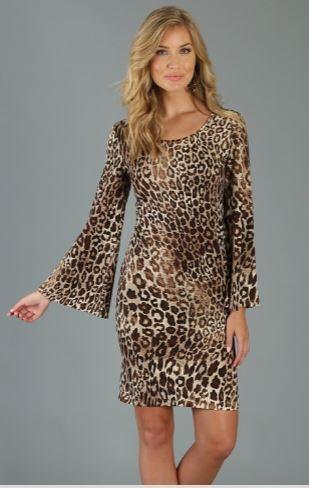 Wrangler Bell Sleeve Animal Print Dress