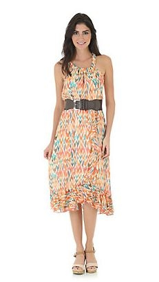 Rock 47® by Wrangler® Side Ruffle Print Dress