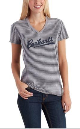 Carhartt Wellton Striped Logo T-Shirt