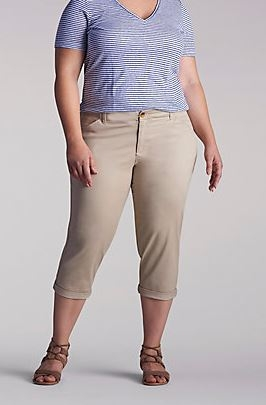 The Essential Chino Crop - Plus by Lee