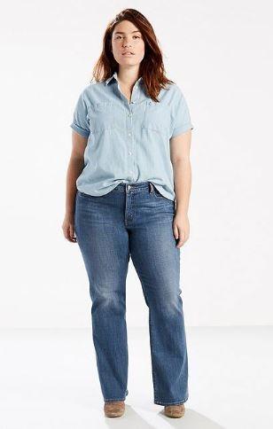 Levi 415 Classic Boot Cut Jeans (Plus)