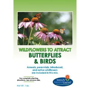 BBB Seeds Butterflies and Birds Wildflower Mix 4oz/ 8oz