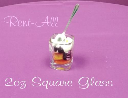 Glassware, Square 2oz