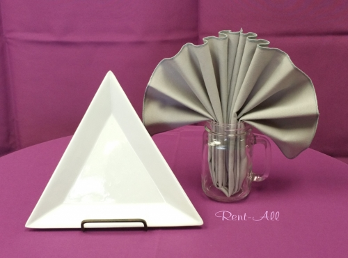 Triangle Plate White