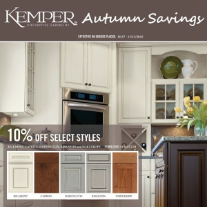 Autums Savings Sale On Kemper Cabinets