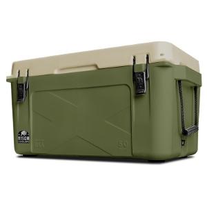 Bison Cooler50 QT. Olive Green