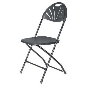 Chair, Black Fanback