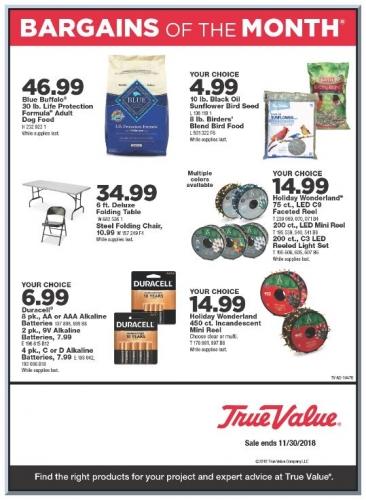 November Bargains!
