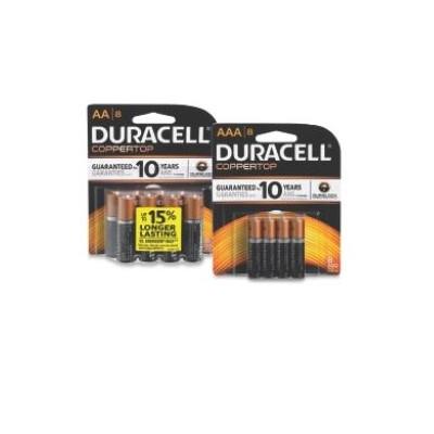 $6.99 Duracell Alkaline Batteries 8-Pk. AA or AAA